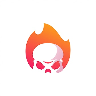 Skull logo illustration