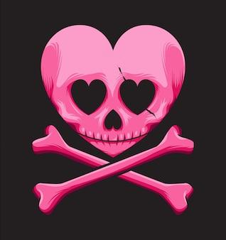 Skull love logo
