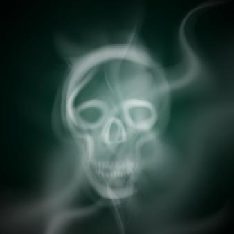 Skull made of smoke