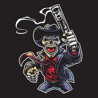 Skull mafia esport logo illustration