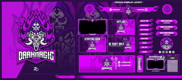 Skull magic gaming layout