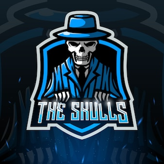 The skull mascot esport illustration