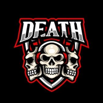 Череп талисман логотип киберспорт игры