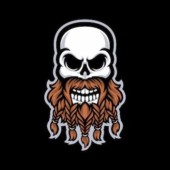 Skull mascot logo isolated