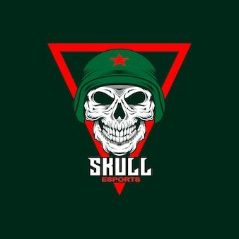 Skull mascot logo in