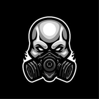 Skull mask  esport logo