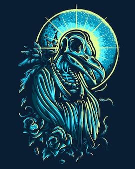 Skull monk gothic