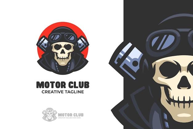 Skull motorcycle club e-sport mascot logo