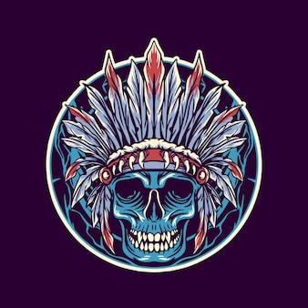 Skull of native american