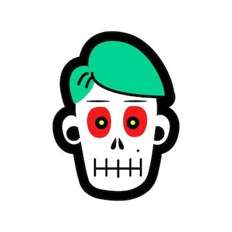 Череп зомби-черепа на хэллоуин