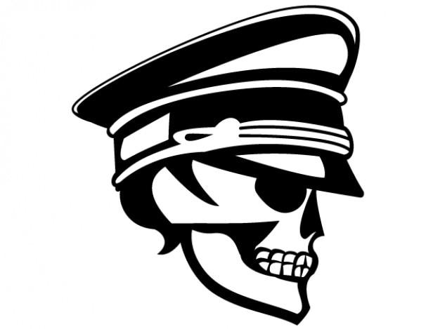 Skull officer vector image
