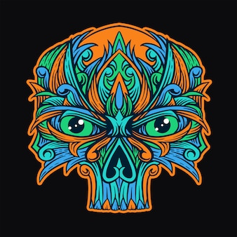 Skull ornament t-shirt design