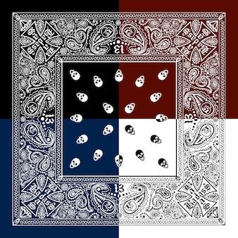Skull pattern background