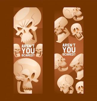Skull pattern dead head crossbones human tattoo illustration