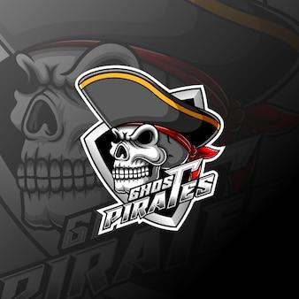 Пираты черепа и спортивный логотип талисман
