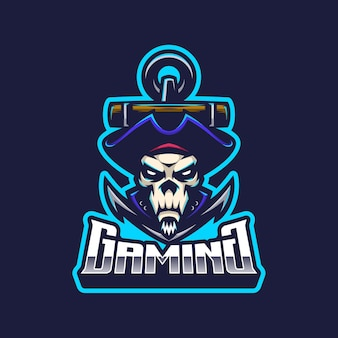 Skull pirates logo mascot