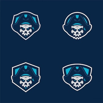 Skull pirates stickers