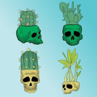Skull plant pack