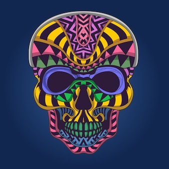Skull in  pop color