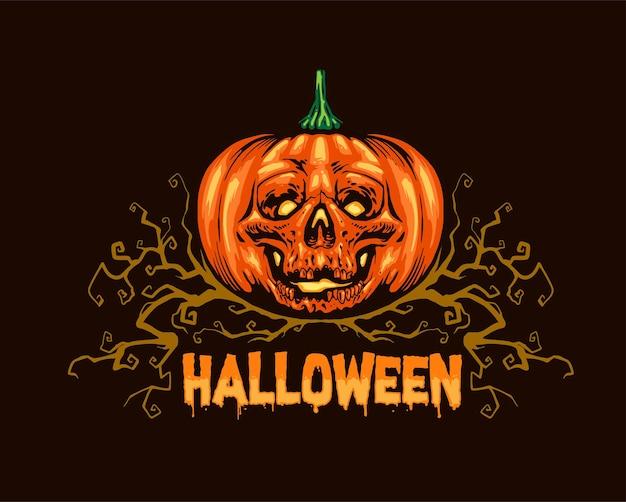 Череп тыквы hallowen