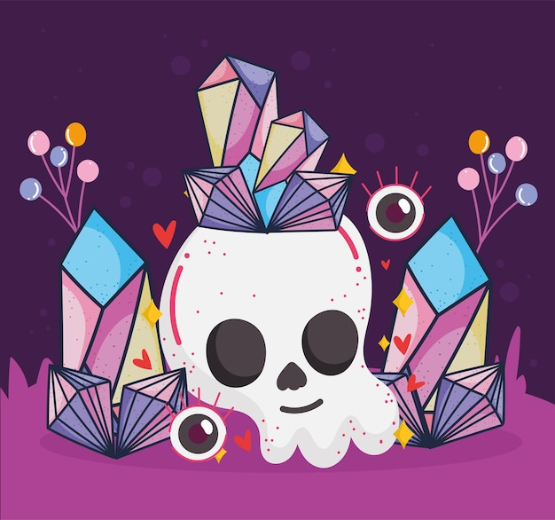 Skull quartz magical