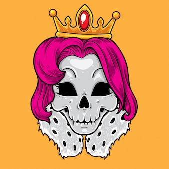Skull queen cartoon