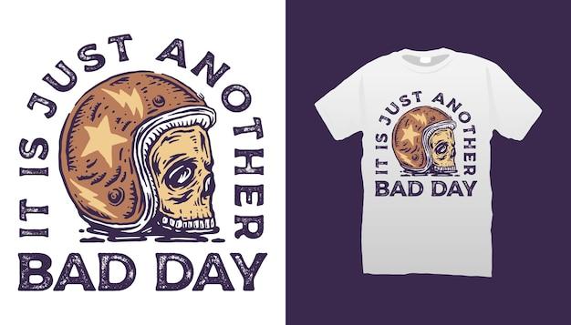 Skull racer illustration tshirt design