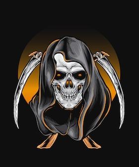 Skull reaper vector