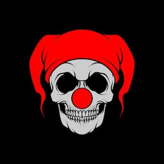 Skull red clown illustration