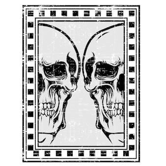 Skull retro frame