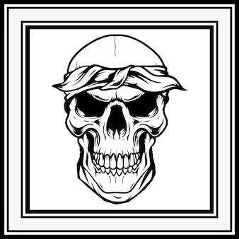 Skull retro