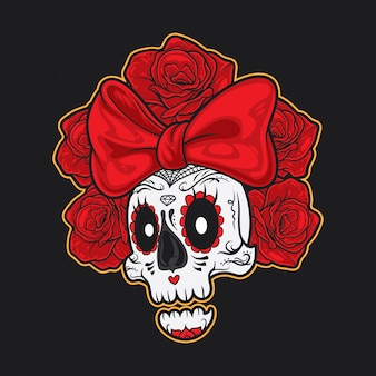 Skull ribbon muerte