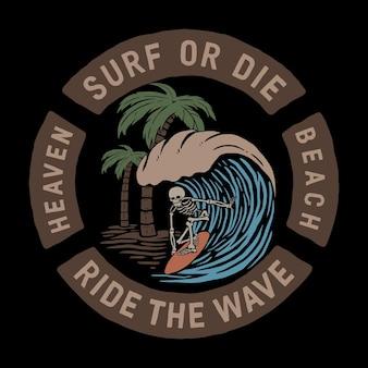 頭蓋骨は波に乗る