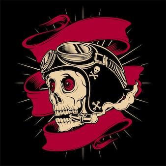 Skull rider helmet