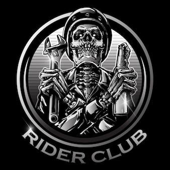 Skull rider logo
