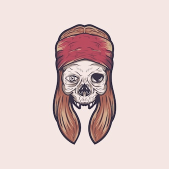 Skull rock vector