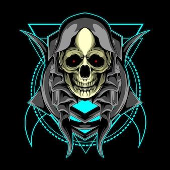 Skull and sacred geometry