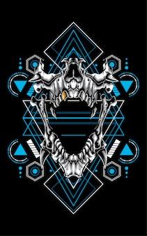 頭蓋骨神聖な幾何学