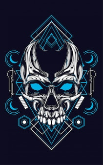 Skull sacred geometry
