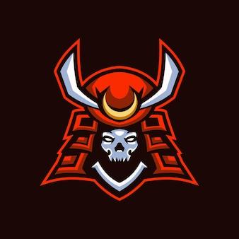 Логотип skull samurai esports