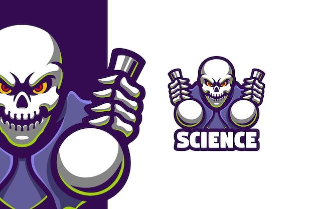 해골 과학 악마 마스코트 로고 그림
