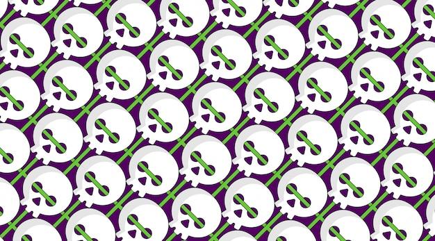 Skull scott pattern background