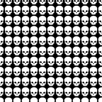 Skull seamless pattern halloween ghost