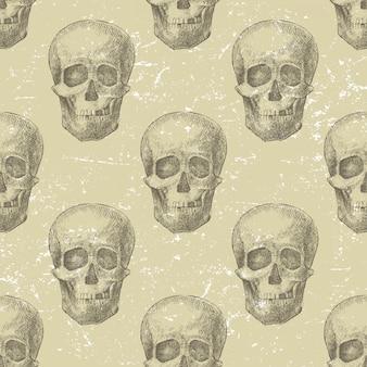 頭蓋骨のシームレスパターン