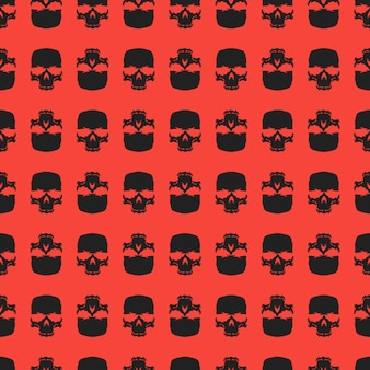 Skull seamless pattern