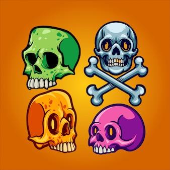 Skull set illustration