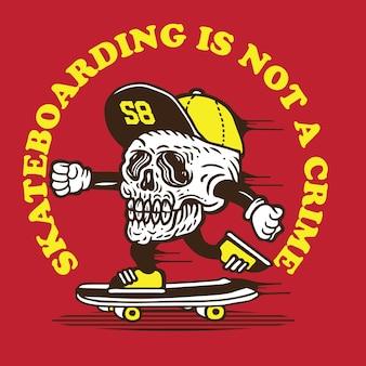 Skull skateboarding is not a crime