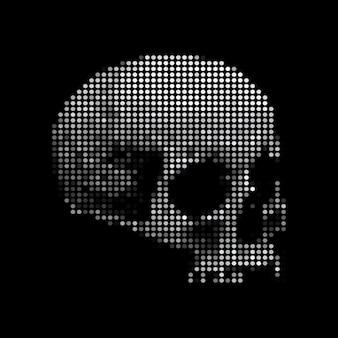 Skull skeleton dots vector illustration