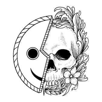 Skull and smile