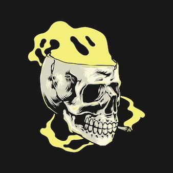 Skull smoke weed